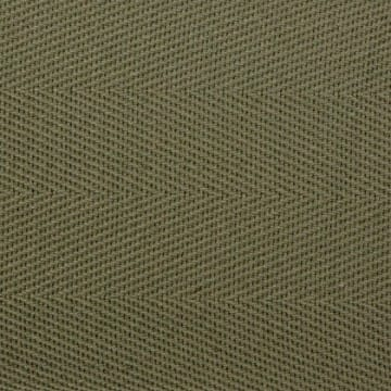 Cotton Herringbone Border Olive