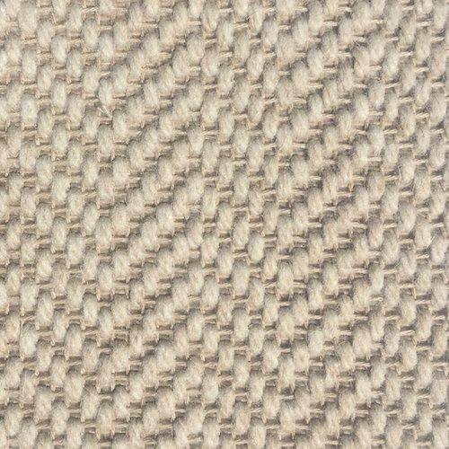 Wool Flatweave Classic Herringbone Chalk
