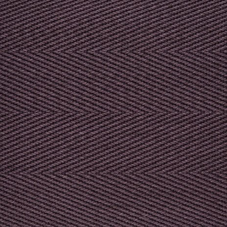 Cotton Herringbone Border Mulberry